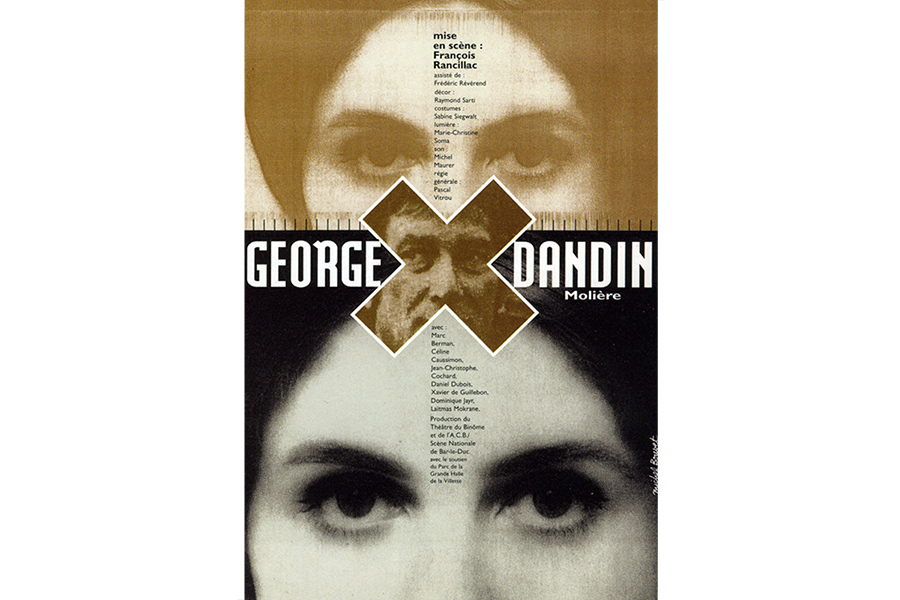 Scénographie de Raymond Sarti, George Dandin