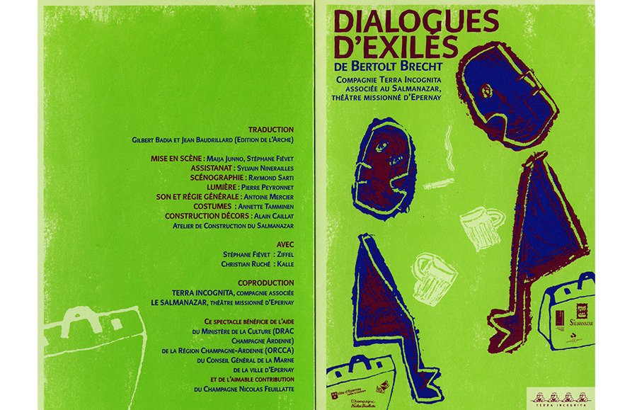 Scénographie de Raymond Sarti, Dialogues d'exilés