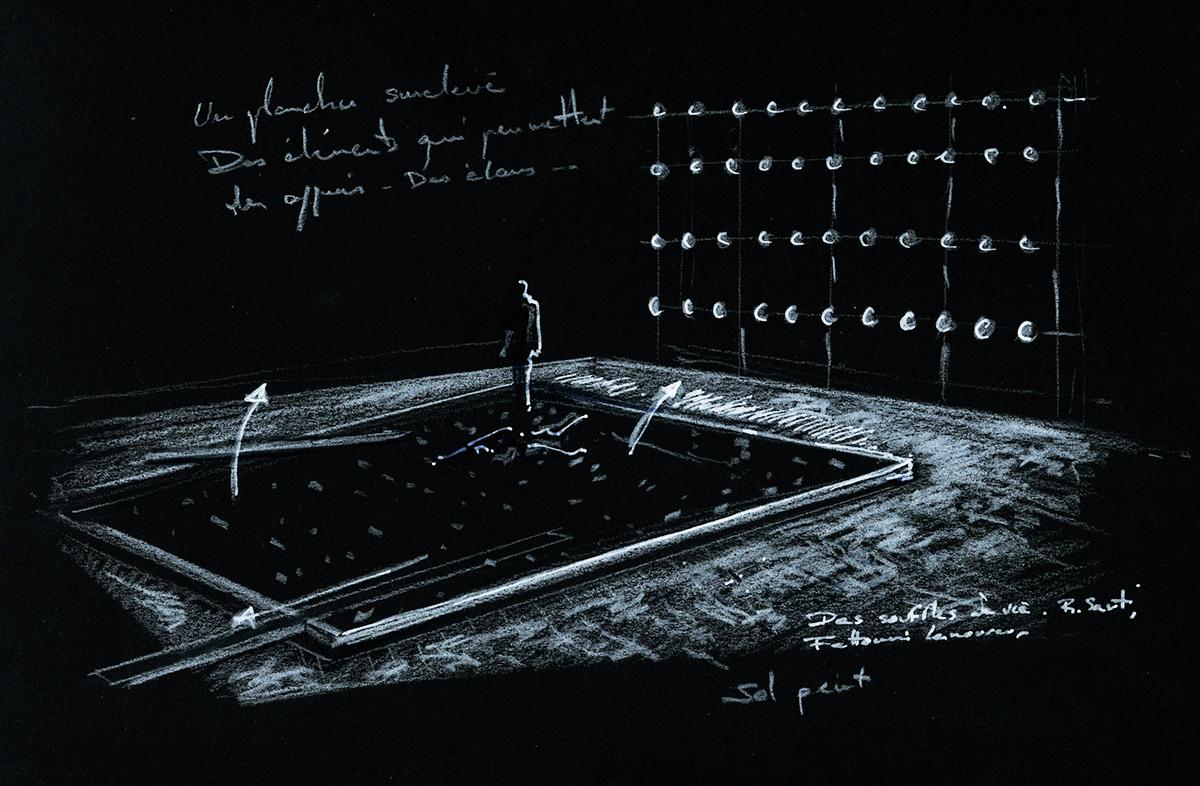 Scénographie de Raymond Sarti, Des souffles de vie