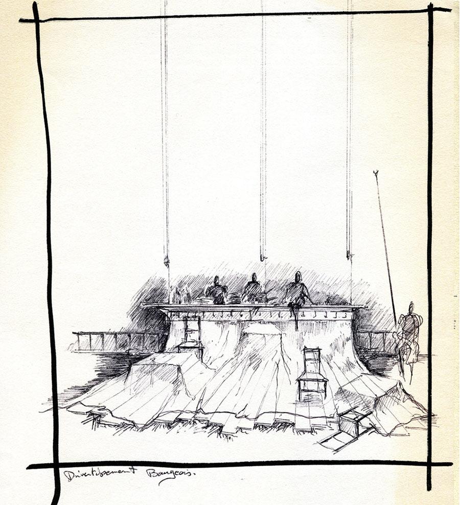 Scénographie de Raymond Sarti, Divertissement bourgeois
