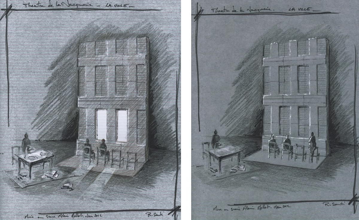 Scénographie de Raymond Sarti, La Ville Evgueni Grichkovets