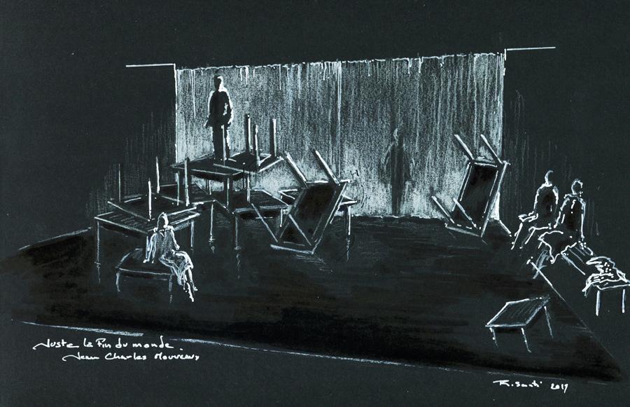 Scénographie de Raymond Sarti, Juste la fin du monde