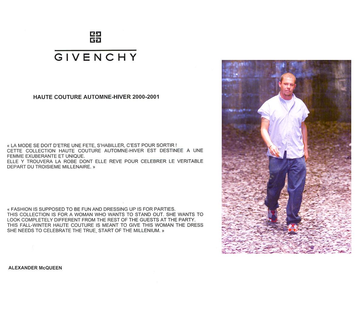 Scénographie de Raymond Sarti, Défilé Haute Givenchy