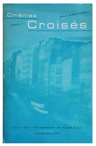 Publication Raymond Sarti, Cinémas Croisés