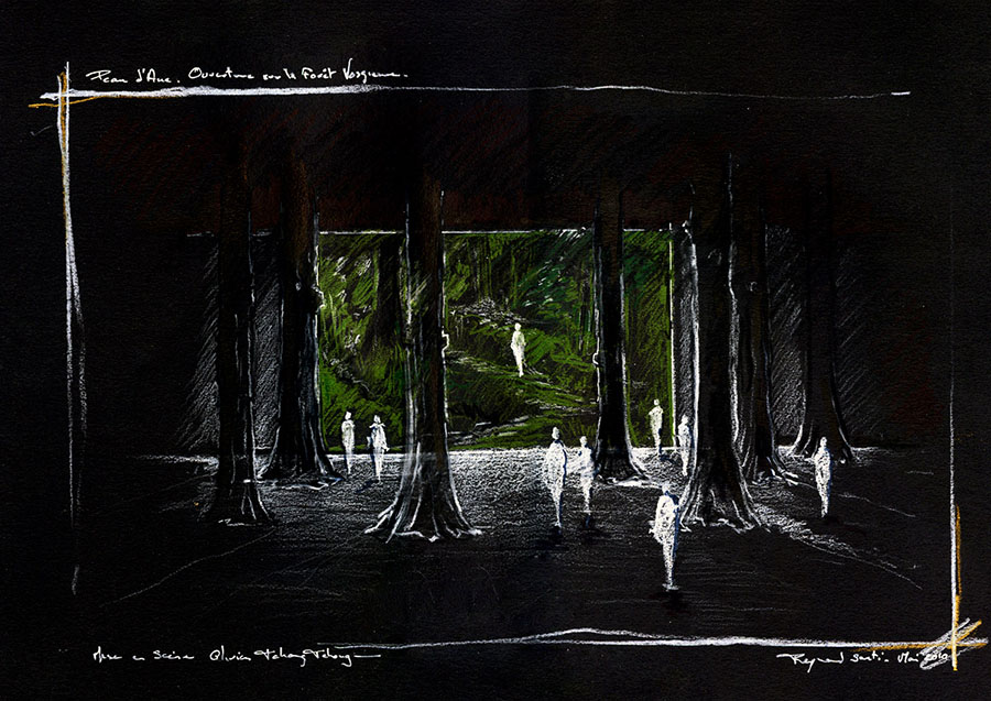 Scénographie de Raymond Sarti, Peau d'Ane