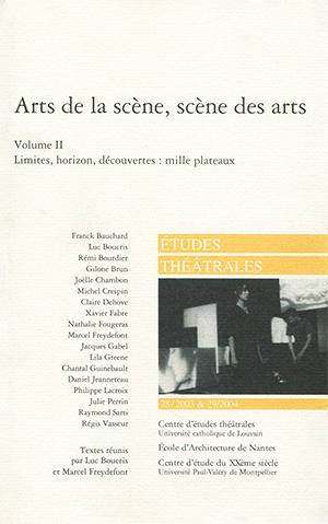 Publication Raymond Sarti, Arts de la scène, scène des Arts