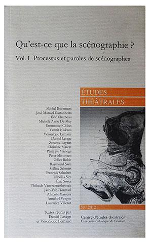 Publication Raymond Sarti, Qu'est ce que la scénographie ?